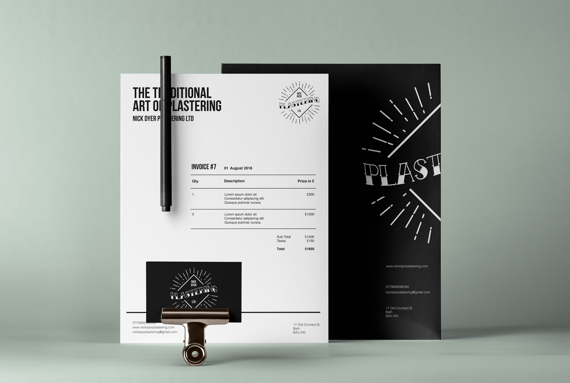 Plastering-Builder-Logo_-Van-Livery-Design_Brand-Identity_Invoice-Design